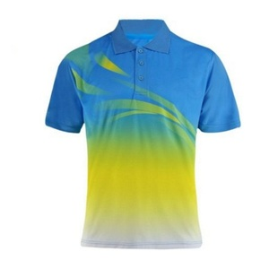 Bulk Custom Print 100 Polyester New Design Polo T Shirt