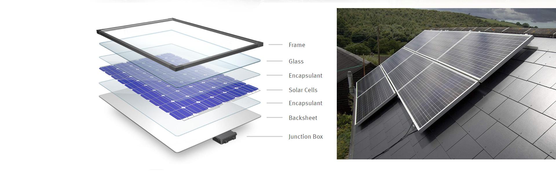 Monokristalline Solarmodule für PV-Solarmodule mit 350 Watt und 350 Watt