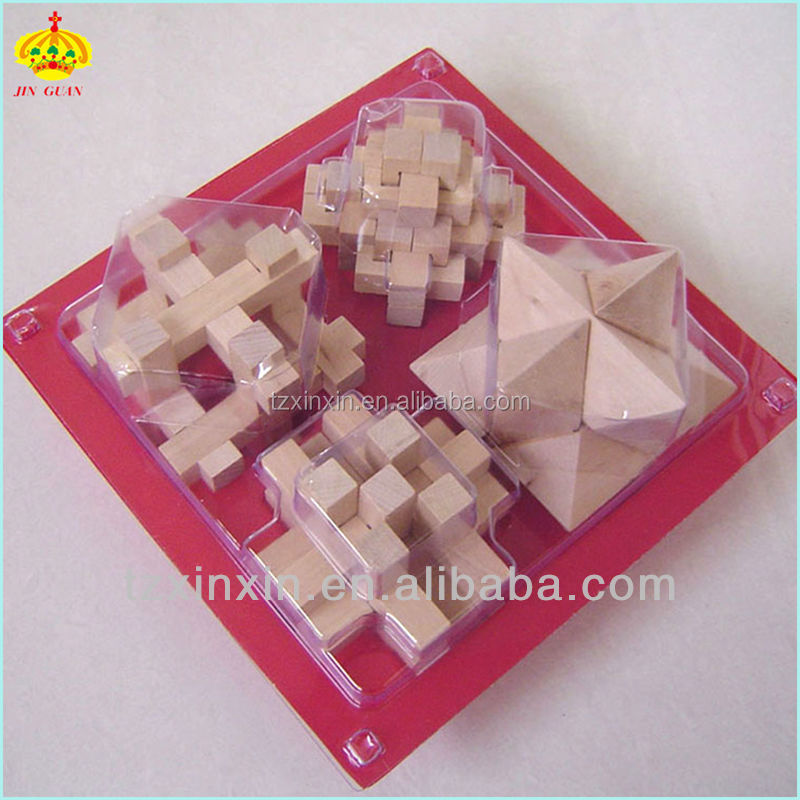 Wooden Educational toys 3D Puzzle game/Brain teaser