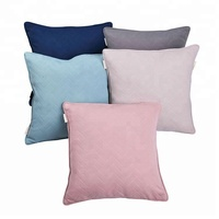 Air layer knit 2 velvet back pillow sag decoration cover lumbar support cushion