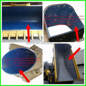 chute bunker truck bed liner/hopper lining in uhmwpe sheet/hdpe liner