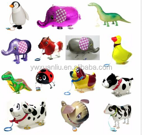 2015 Promotion cartoon animals helium balloon,16 inches printed balloon, Christmas day snowball frozen balloon