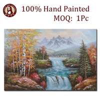 impressionist art acrylic chinese landscape paintings on canvas