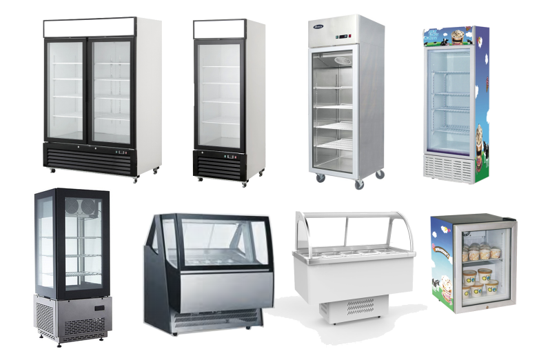 508L Display Freezer With LED AD Frame and Sliding Door On Top