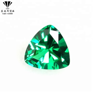 Gemstones Processing Loose Synthetic Green Triangle Shape Spinel Rough