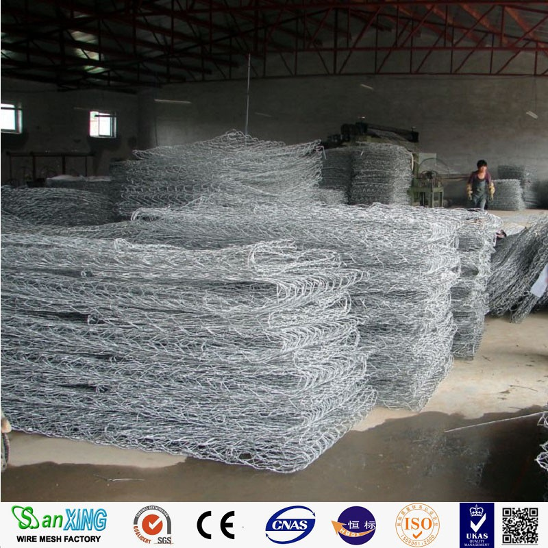 flood control wire mesh/double twisted gabion box price