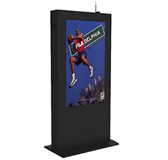 Ceiling / Wall Mounted 4K IR touch advertising digital display screen notice board media with Android OS