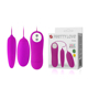 Rechargeable soft Bullet and Eggs double vibration adult toy for women