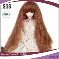 long Fashion brown mohair doll wigs various styles
