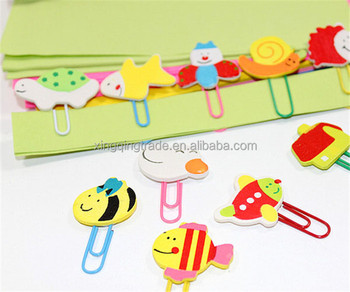 Cute Animal Cartoon Painted Wooden Paperclip Burst Models Stationery Wholesale Paper Clips Clip
