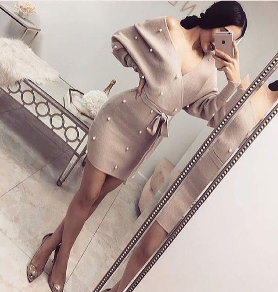 Alibaba.com / Fashion Long Sleeve Short Celebrity Evening Party Homecoming Sexy Bandage Woman Dress