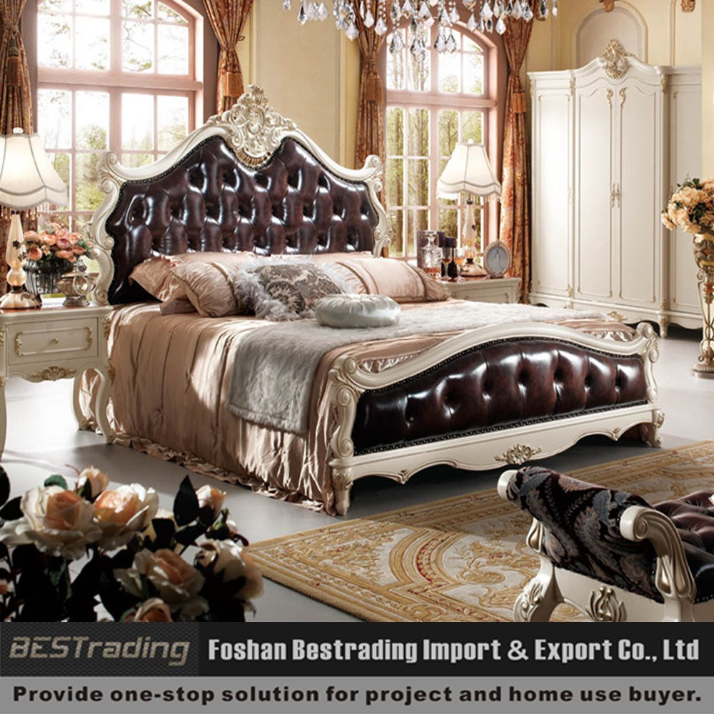 Wood bed antique style framebed room furniture setnew classic bedroom furniture