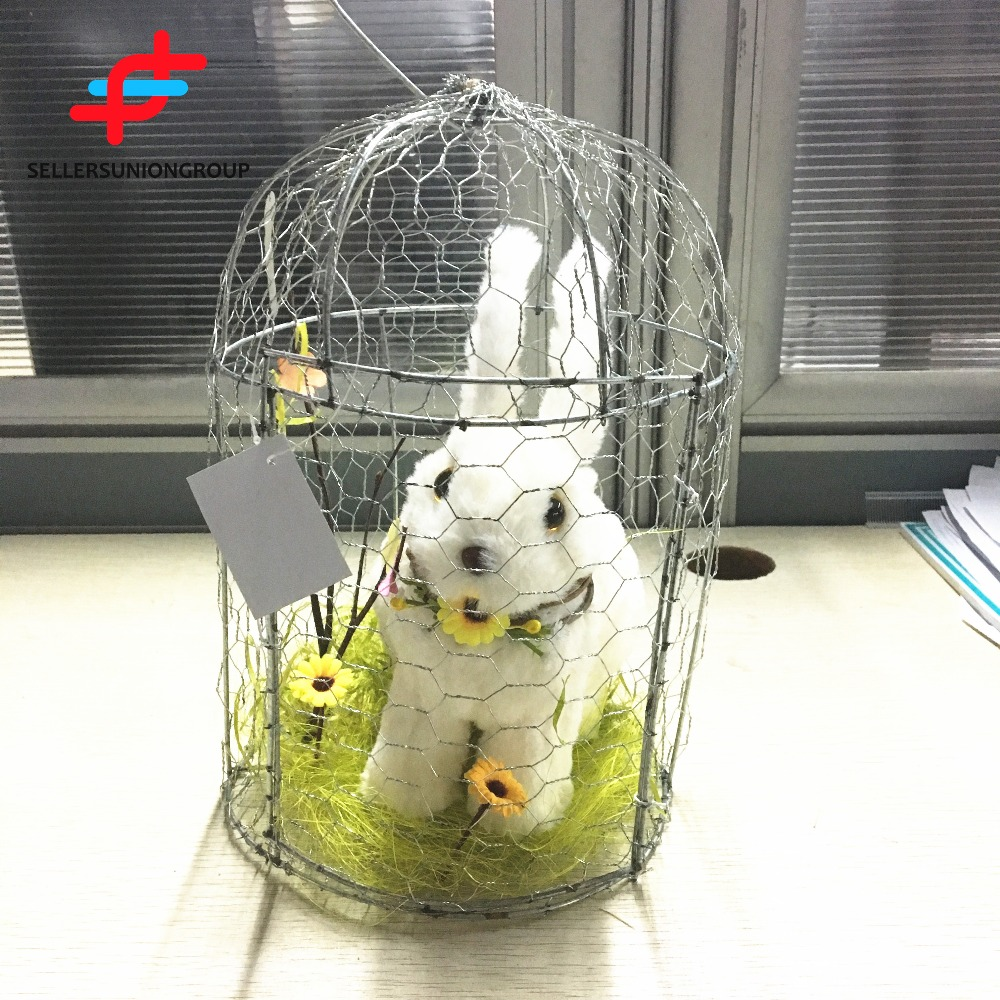 Easter Decoration Hanging Bunny Hanging Rabbit With Cage
