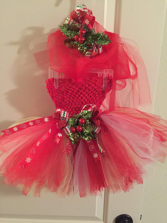 f484eb408e21 Get Quotations · Handmade Boutique Infant Baby Girl Christmas Tutu Dress &  Hair Bow Set! Shiny N Glitzy