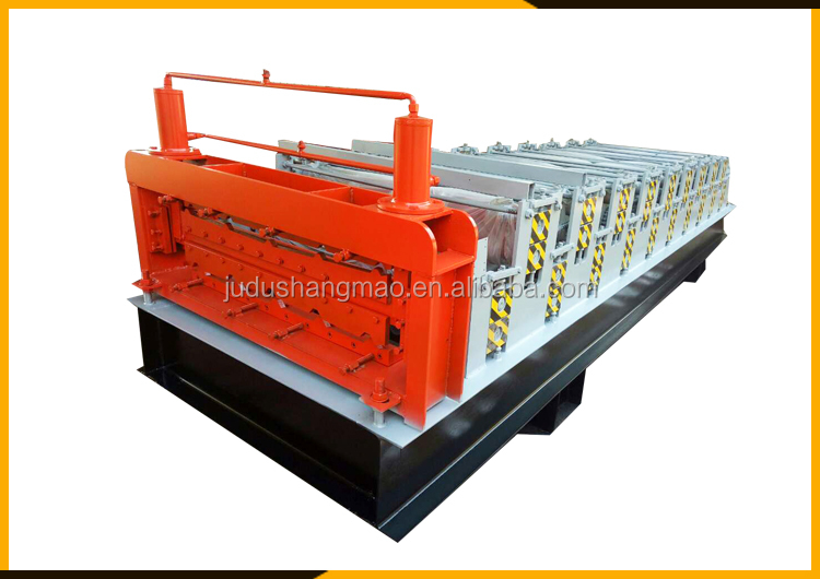 Customized profiles  metal roof tile making machine /high rib roofing panel roll forming machine