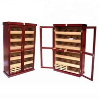High End Cherry Wooden Cigar Cabinet Humidor in Big Size