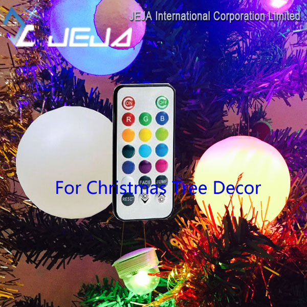<strong>Christmas</strong> Ornaments Multicolor Remote Design Ball Orb Light