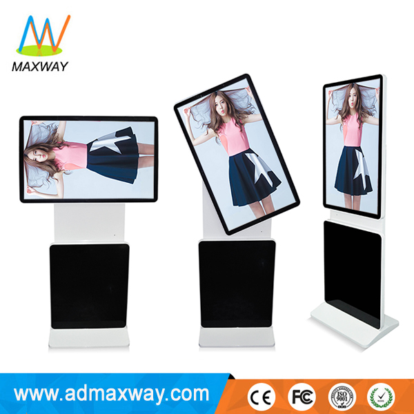Big Screen 65Inch Floor Stand Totem Interactive Kiosk For Advertising
