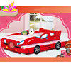 2016 new design children wooden car bed double,high quality kids wooden car bed double,cheap baby wooden car bed double W08A025