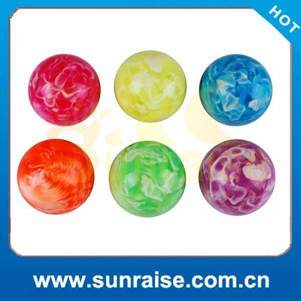 Customized Logo hi bounce glitter water balls 60mm