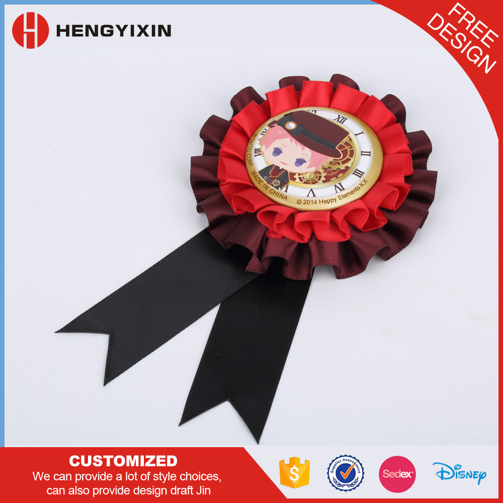 Factory wholesale ribbon rosettes award