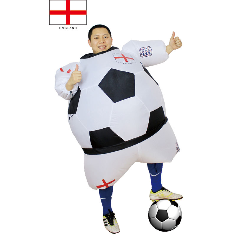 006430c9b53 US $42.8 |England Halloween Football Fun Player Costume Men Women Inflated  Outfits Airblown Funny Sports Costume Party Club Festival Suits on ...