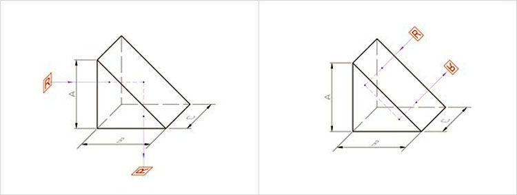 Optical High Precision Polished 45 60 90 degree prism and right angle prisms with hole