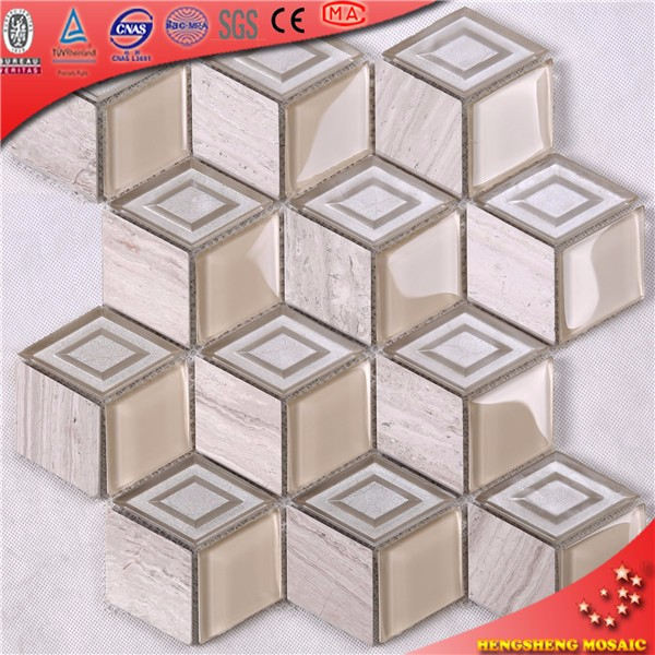 Jy016 Glass Mosaic Tile China Factory Wholesale Kitchen Wall Tiles Decorative Wall Tile