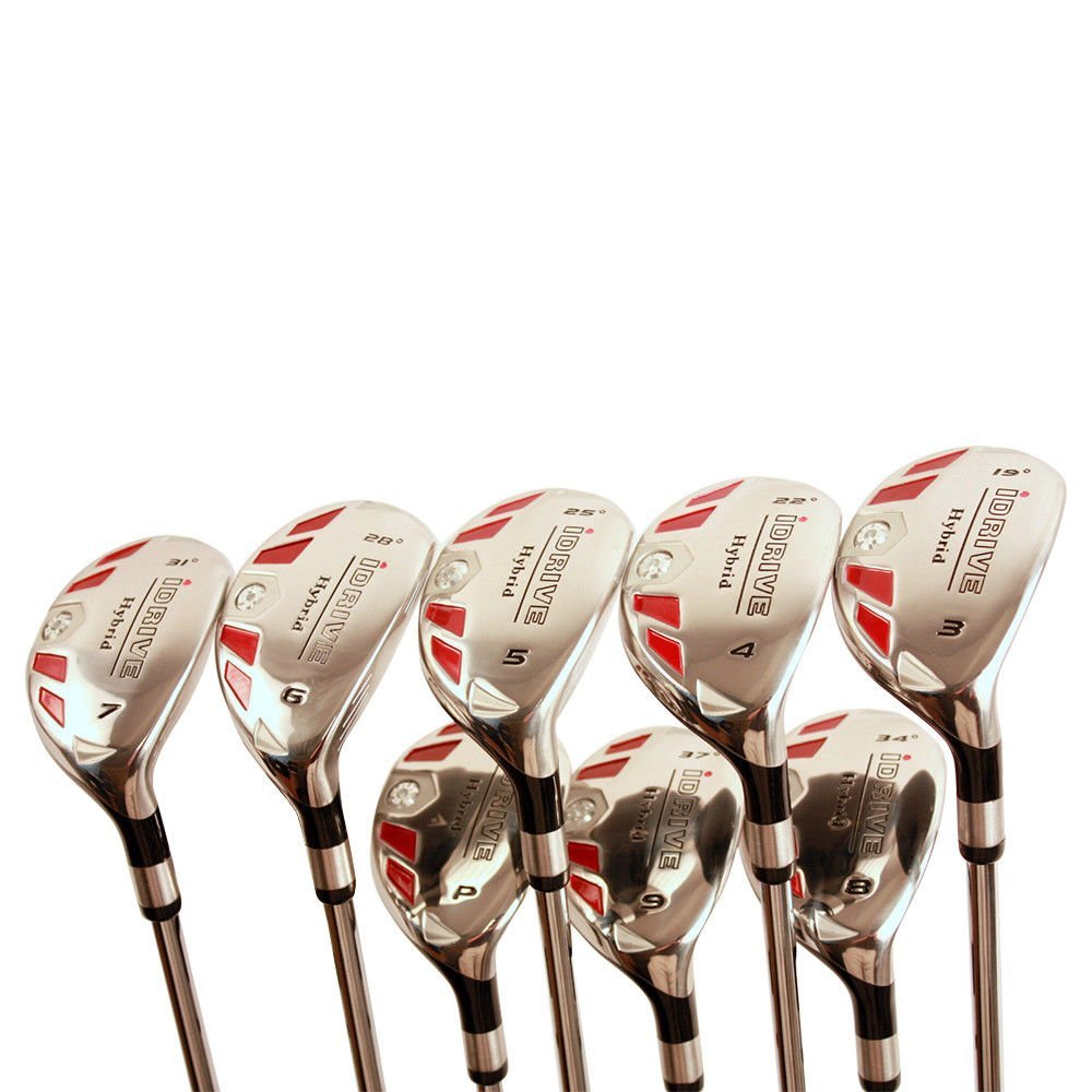 "Petite Women's Golf Clubs All Ladies iDrive Hybrids Complete Set Includes: #3, 4, 5, 6, 7, 8, 9, PW. Lady ""L"" Flex Right Handed New Rescue Utility Clubs. (Petite Short Women - 4'10'' to 5'3"")"