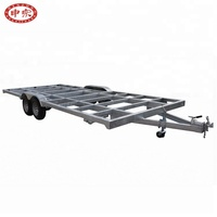 GTM 3.5ton tandem axle galvanized finish tiny house trailer
