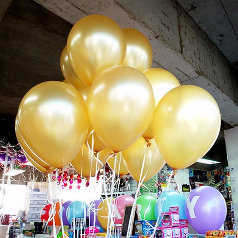 Inflators Gold S 10pcs Lot Thick 1 5g Latex Helium Balloon Inflatable Wedding Decorations Air Balls Birthday Party Supplies Balloon