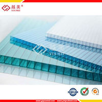 Crystal plastic hollow polycarboante greenhouse sheeting