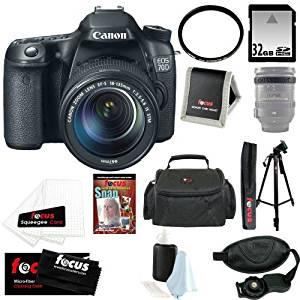 Canon EOS 70D SLR CMOS 20.2MP Digital Camera EFS 18-135mm Lens + 32GB Memory Card + Tiffen 67mm UV Protector + Kit