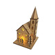 Christmas wooden decoration light LED mini house best sale cheap DIY gifts model on table