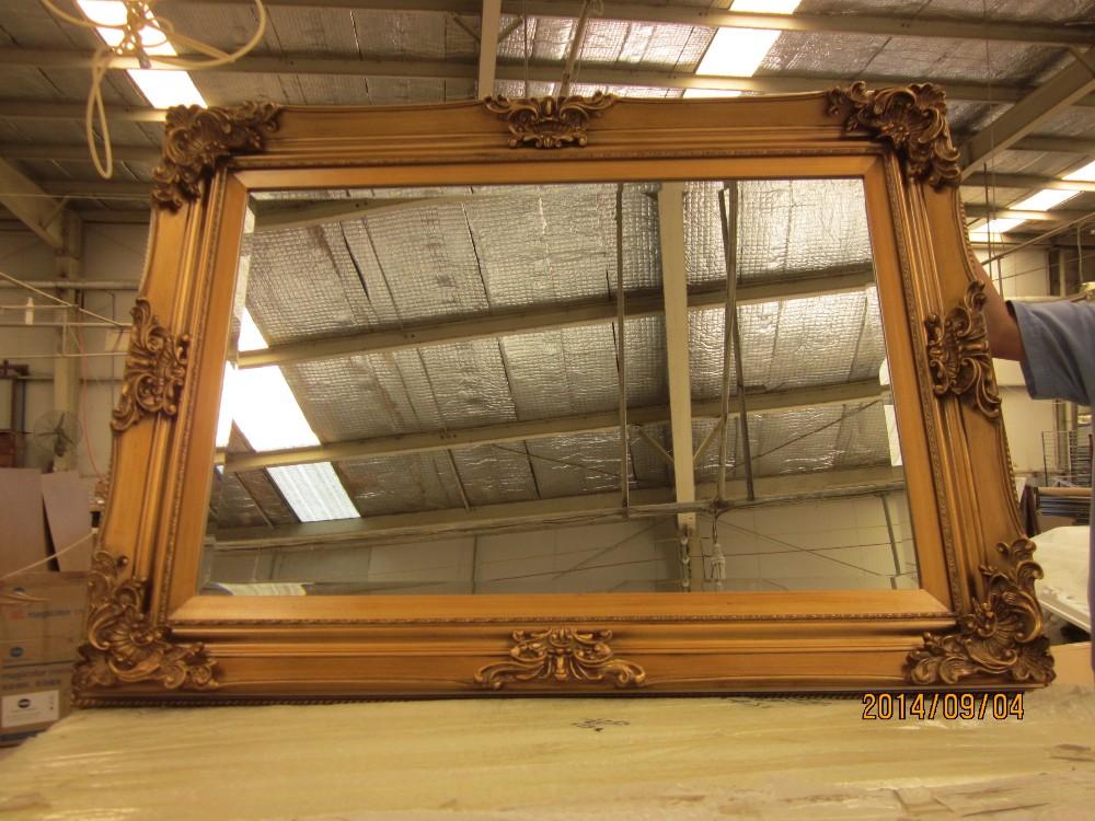 clsico marco de madera espejo cm espejo de pared rahmens color oro mc