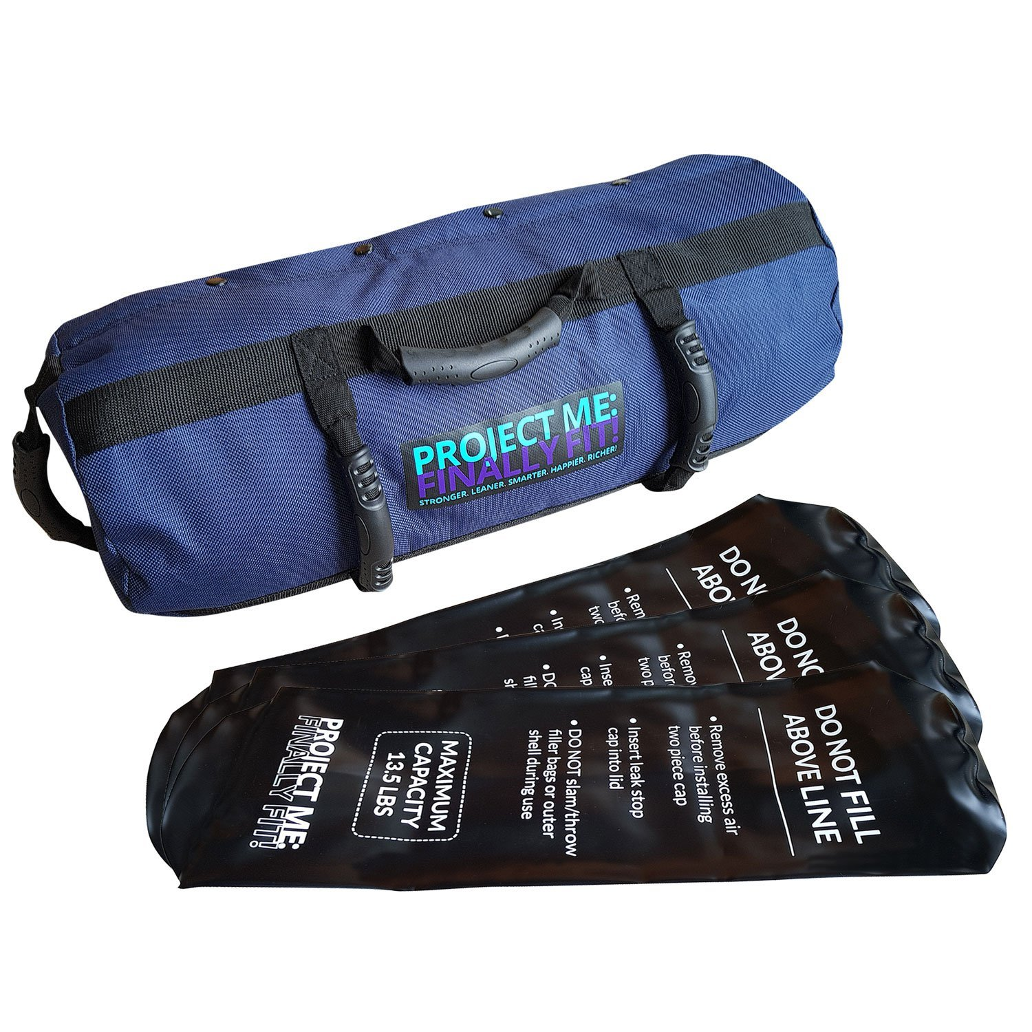 fe1806a7c484 Get Quotations · Adjustable Fitness Sandbag With Handles And Inner Water  Filler Bags