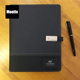 Multifunction Planner Pu Leather Notebook With Power Bank And Usb