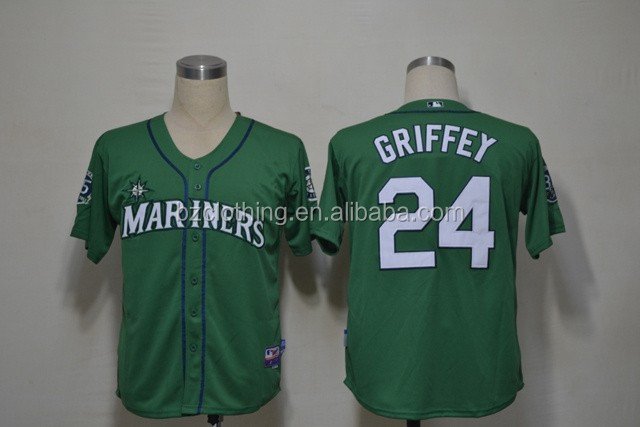 Men's Seattle Mariners Ken Griffey Jr. Green Jersey