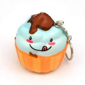 3d soft pu mini food chips ice cream hamburger cake Crafts squishy toys keychain