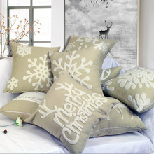 Presente de natal Decorativa Throw Pillow Caso Capa de Almofada Fantasia Festival Bordado Cervos Do Natal Atacado HT-CCWEC-03A