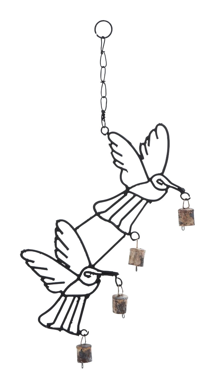 Harvey & Haley Metal Bird Wind Chime with Curvy Base