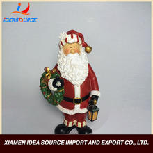 High quality resin sculpture christmas ornament santa claus