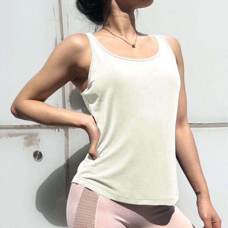 Wholesale Athletic Ladies Workout Yoga Tank Top Custom Plain Sport Fitness Women Gym Tank Top