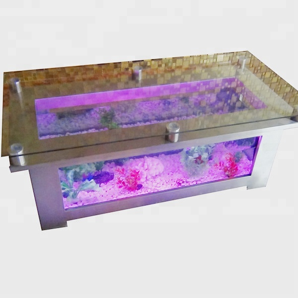Aquarium Furniture Fish Tank Coffee Table Colorful Led Glass Water Aquarium Buy Aquarium Furniture Fish Tank Coffee Tablehome Aquariumlight Up
