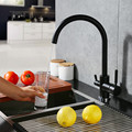 Newly Osmosis Water Filter Three way Sink Taps Mixer Swivel Water Purification 3 In 1 Kitchen