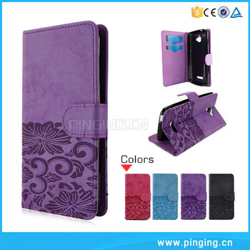 Hot Sale Book Style Wallet Flip Cover Case For Lenovo A6600 Plus