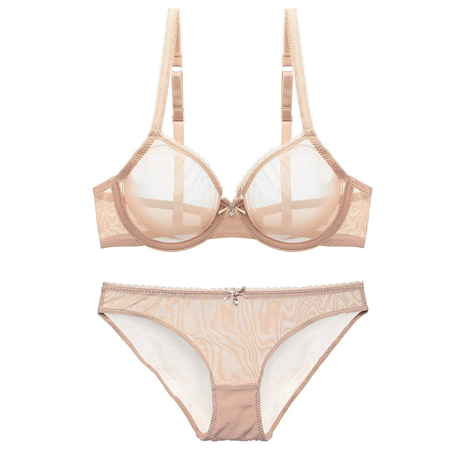 15696daa136 Get Quotations · NING GEGE Women See-Through Lace Push up Transparent Sheer  Bras for Women