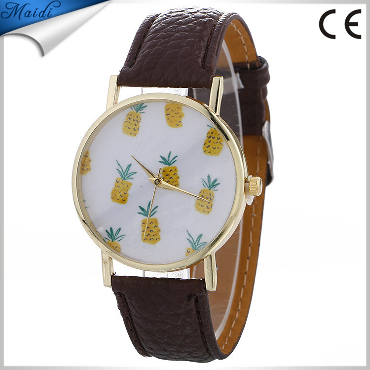 Alibaba 2017 Cute Pineapple Fruit Ladies Watches Fashion Summer Women Dress Wrist Watches LW064