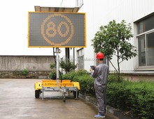 VMS-400-1 Amber Color Changeable Message Sign,Led Traffic Message Board, Portable Led VMS Trailer