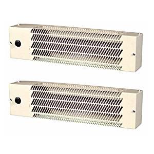 Fahrenheat WHT500 120-Volt/240-Volt Built-in Thermostat Utility Heater, 2-Pack